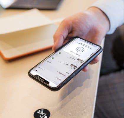 GoBright Work - Desk Booking - NFC sticker - GoBright App
