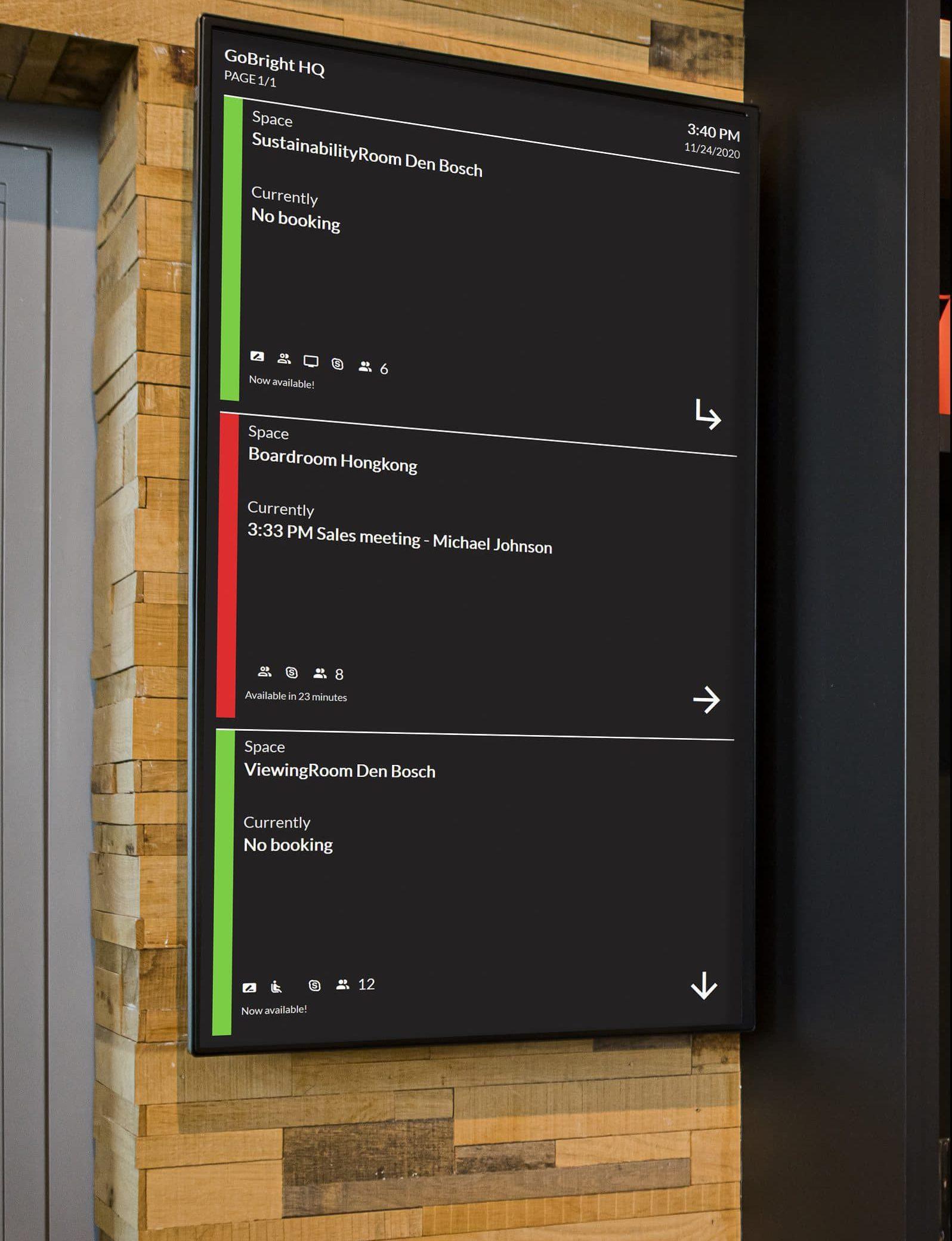 GoBright View - digital signage - narrowcasting - Wayfinding