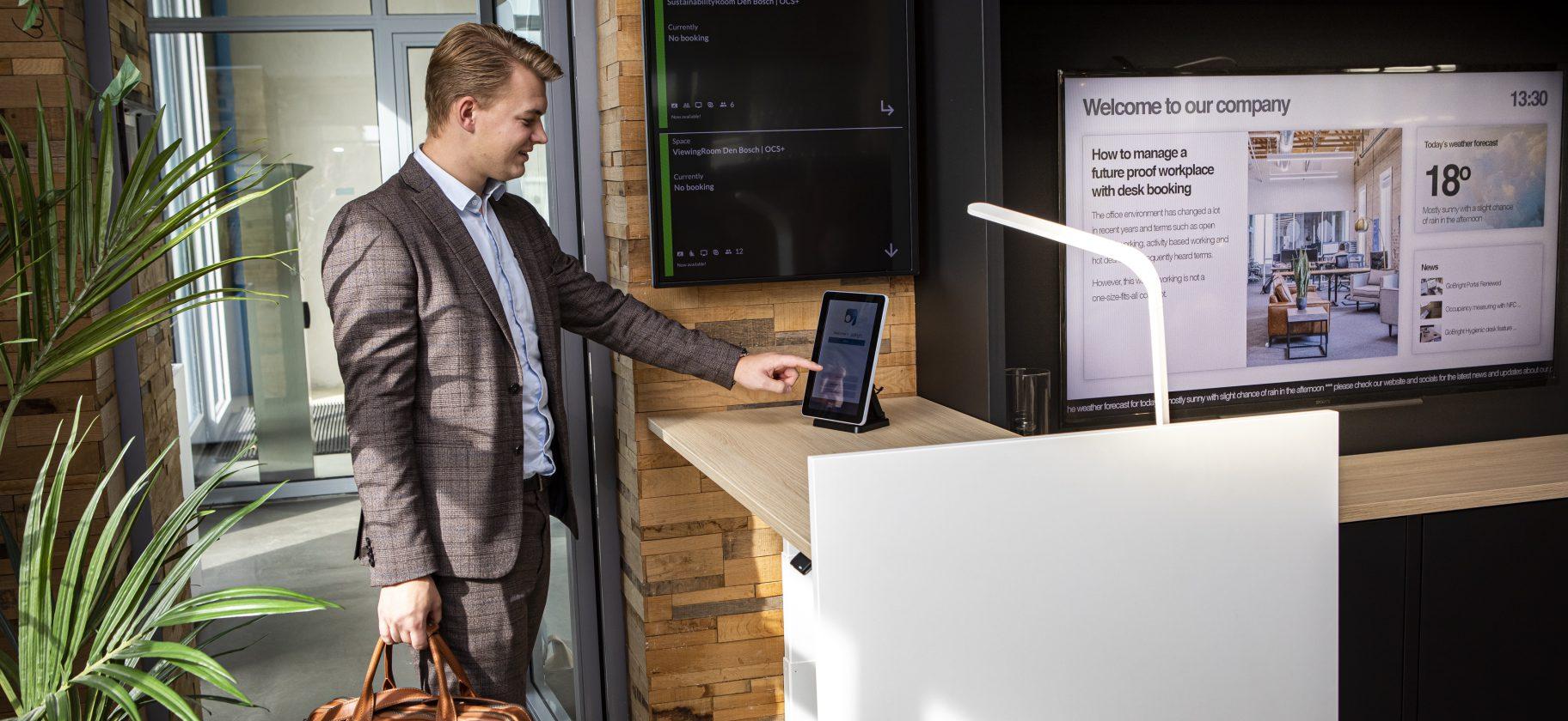 GoBright Visit - digital reception - visitor registration - visitor management